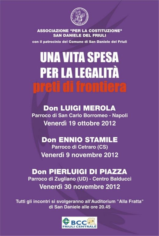 Locandina – Una Vita Spesa per la Legalità – 2012