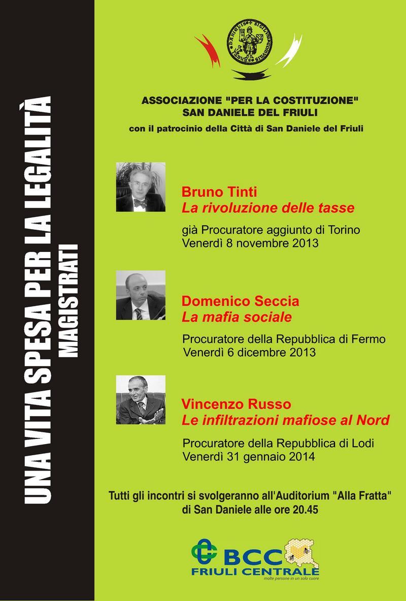 Locandina – Una Vita Spesa per la Legalità – 2013