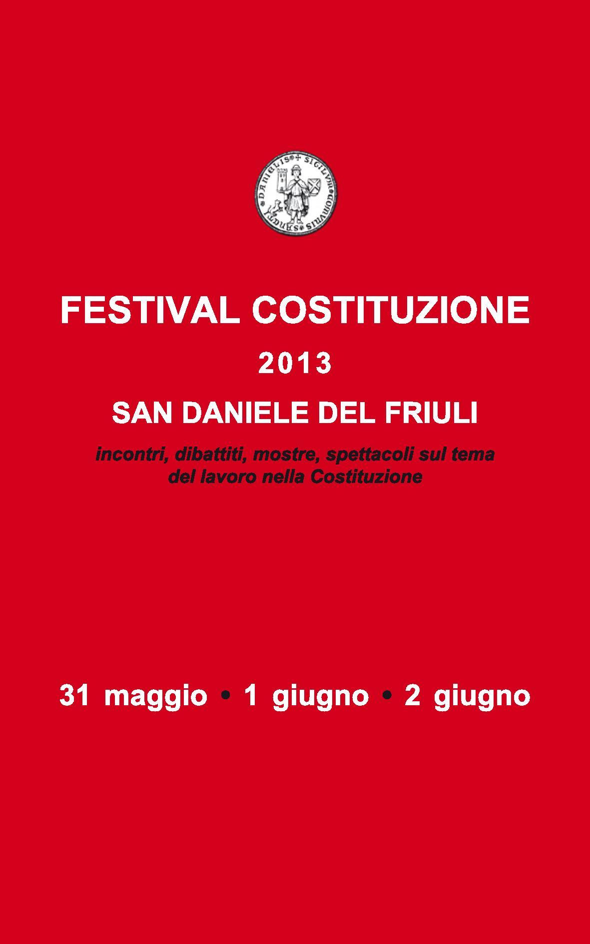 Locandina – Festival Costituzione 2013