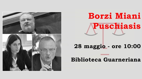 Nicola Borzi, Stefano Miani e Barbara Puschiasis